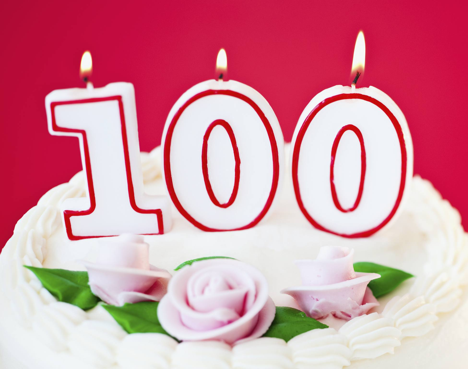 100th Birthday Party Ideas Candles On Cake