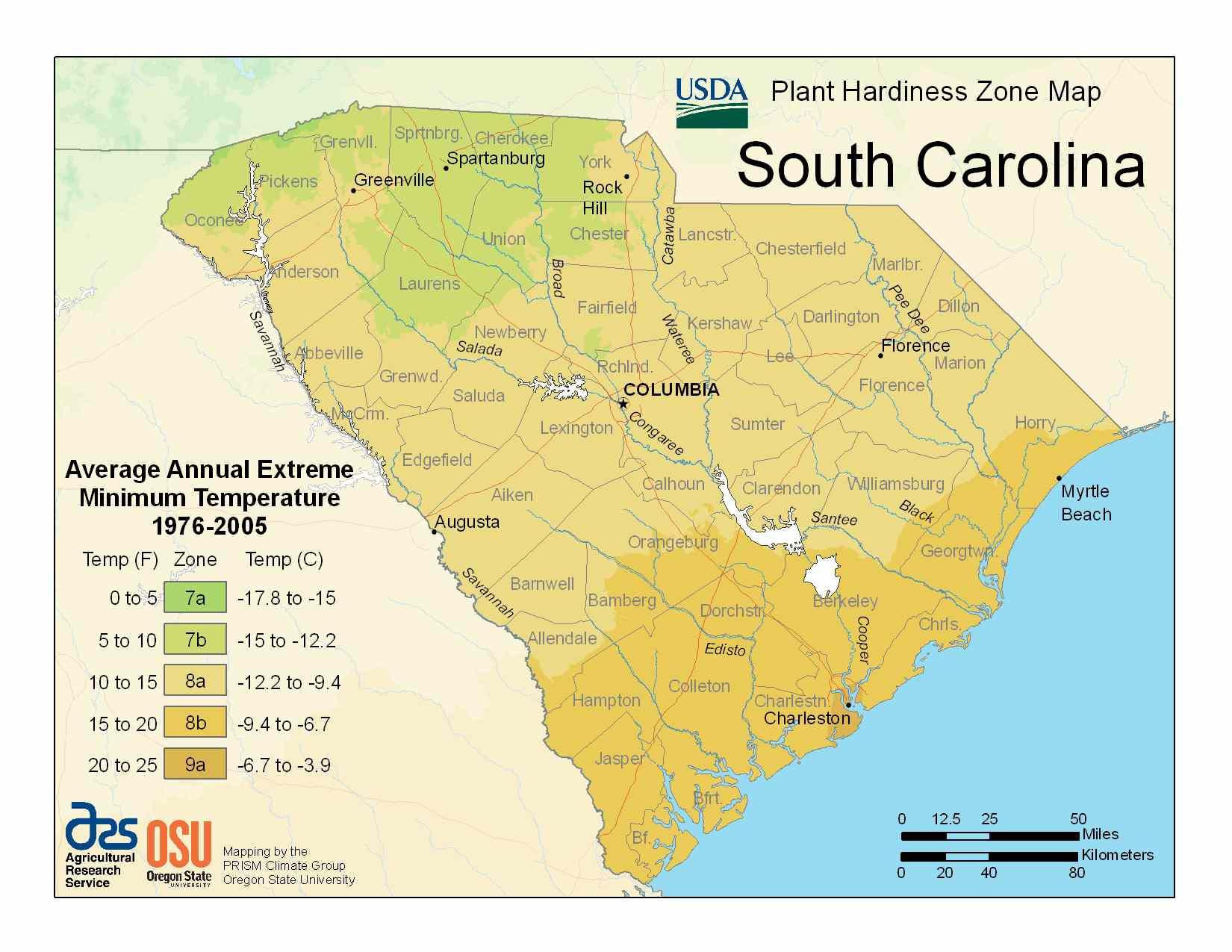 Photo of South Carolina Hardiness Zones