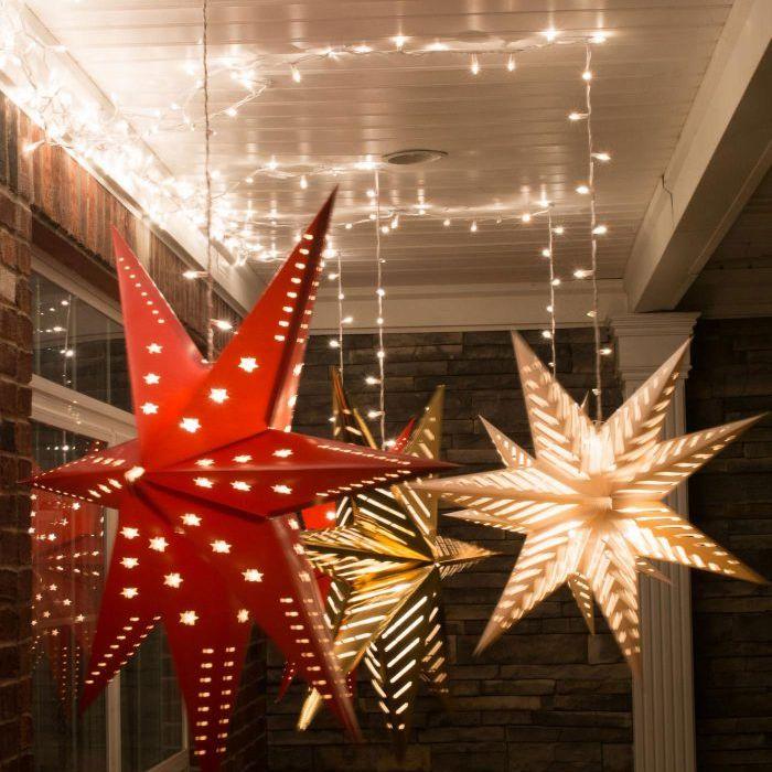 Hanging star luminaries