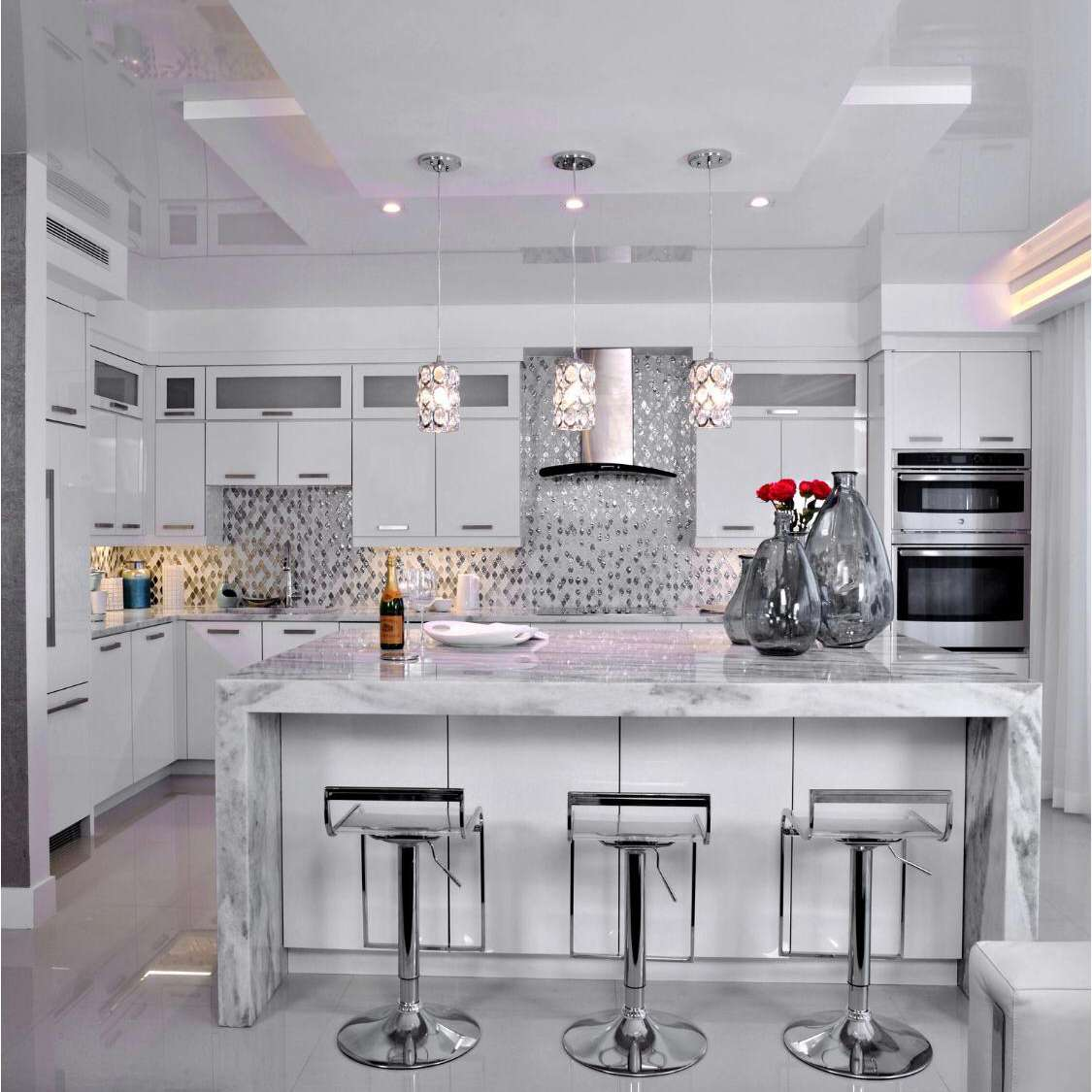 Kitchen with LED and under-cabinet lighting