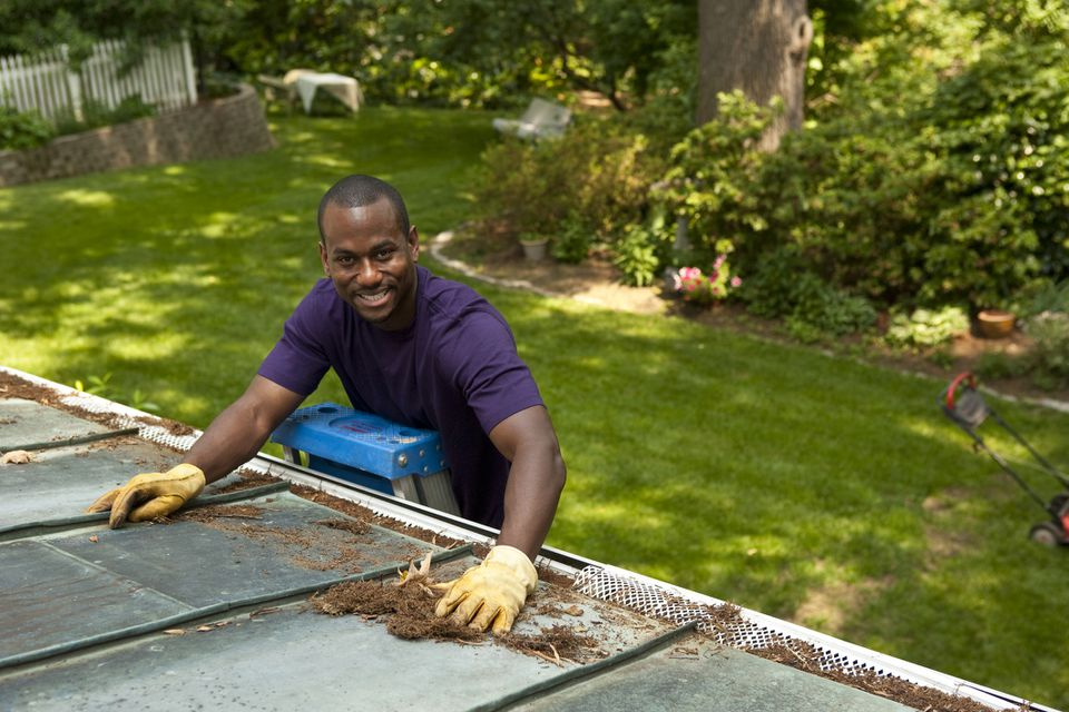 Annual Cleaning of Gutters