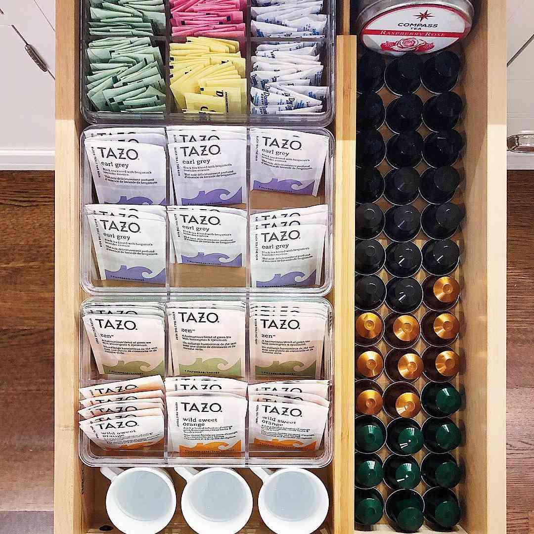 Tea organization drawer