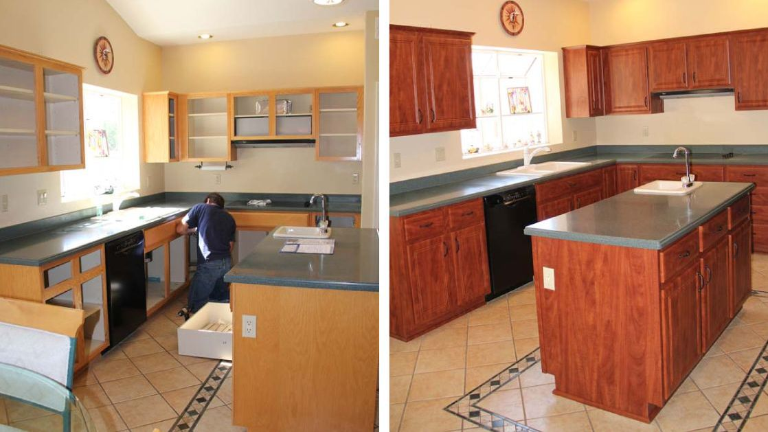 How Cabinet Refacing Works The Basic, Replacing Kitchen Cabinet Doors And Drawer Fronts Cost