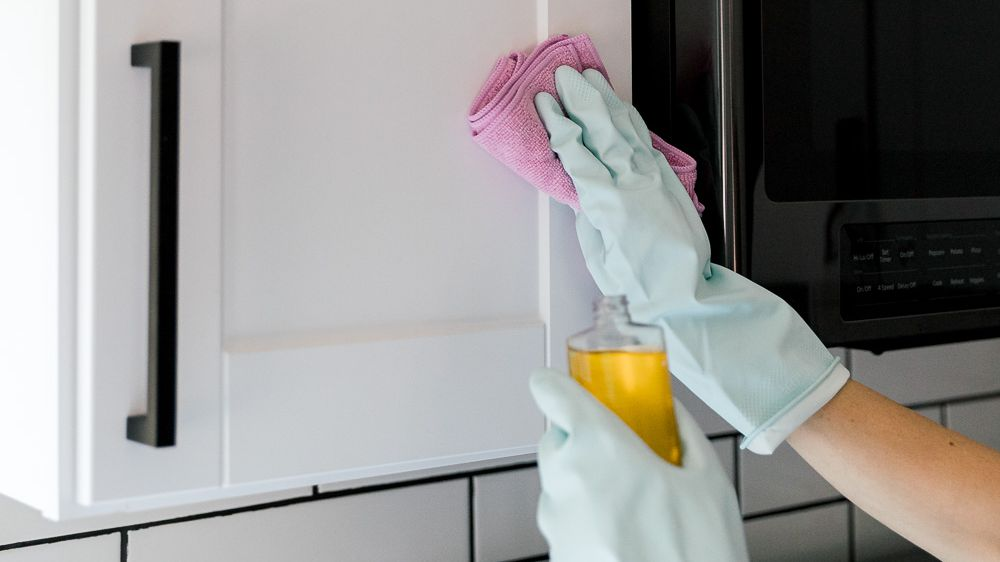 Cleaning Food Grease From Wood Cabinets, Remove Grease From Cabinets