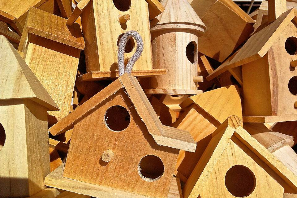 Birdhouses in Different Sizes