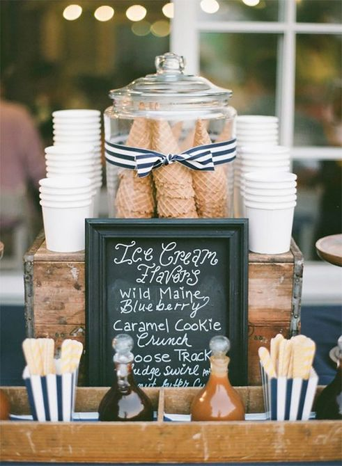 Wedding Reception Ice Cream Bar
