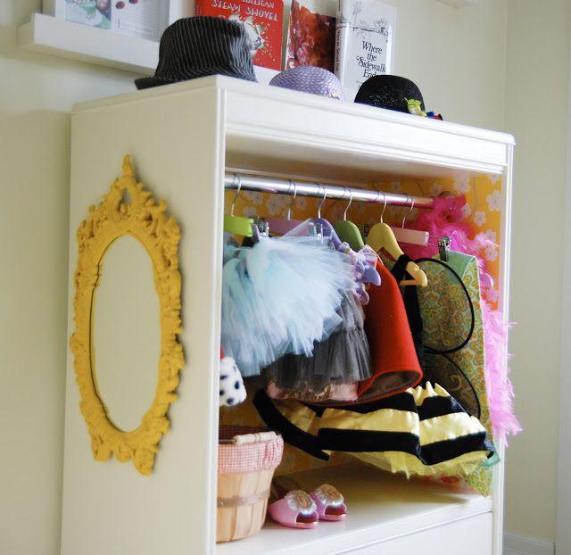 DIY costume closet from dresser