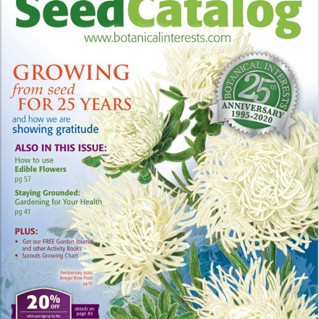 La portada de la semilla de 2020 Botanical Interests catálogo