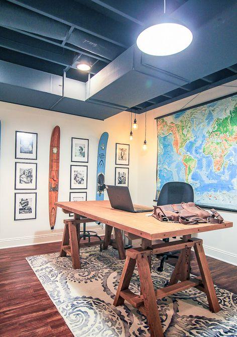 Después - Cambio de imagen de la oficina en el hogar de Mancave