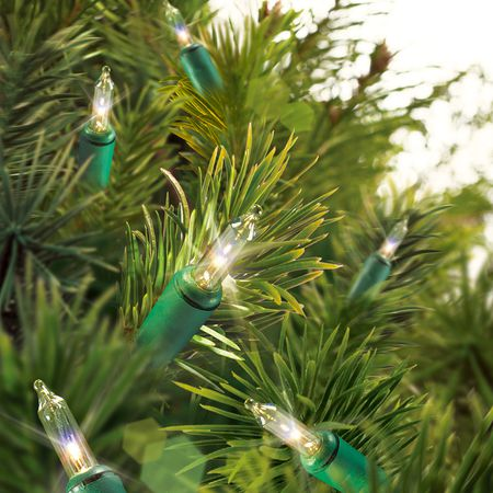 walmart mini string lights - Christmas Tree With Lights And Decorations