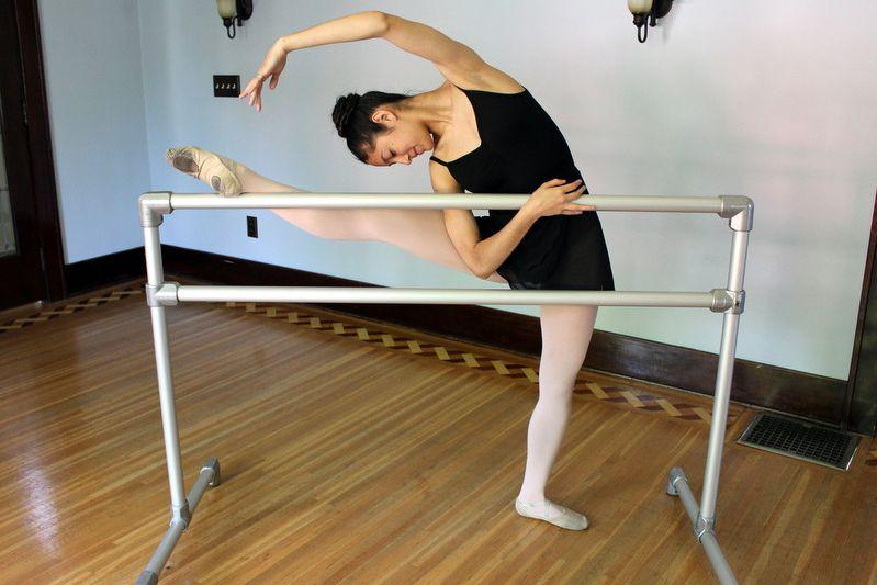 A DIY ballet barre
