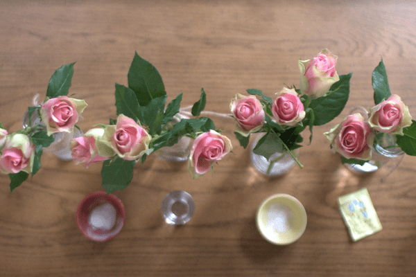 flowers from overhead