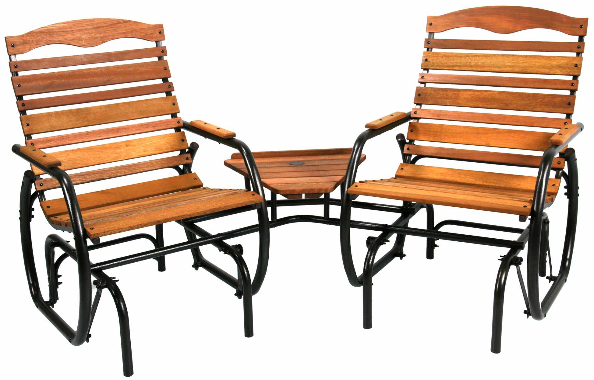 Jack Post Country Garden 2-Seat Wood Glider with Table