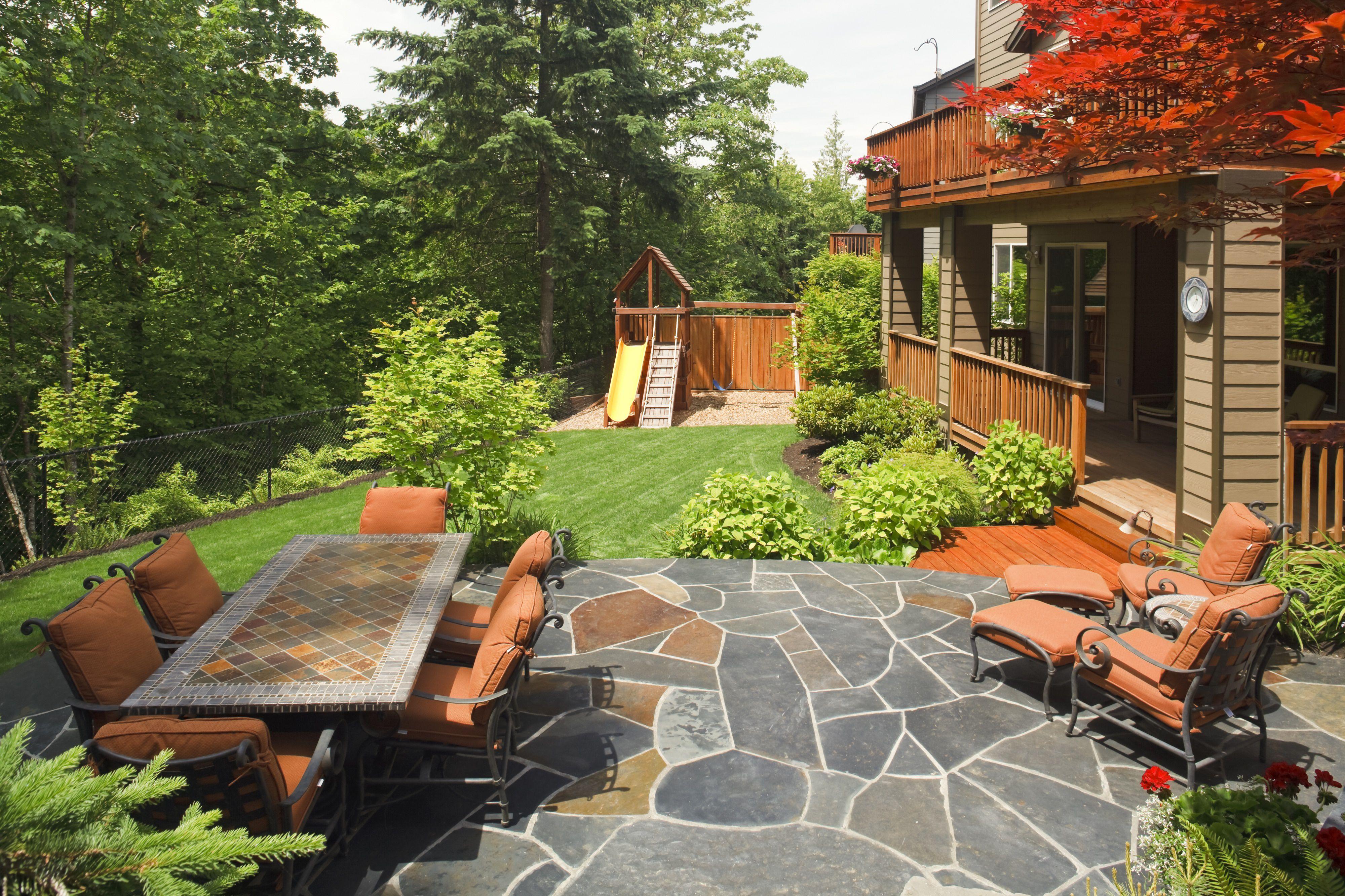 patio con patio de lajas
