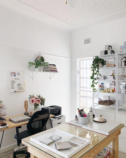 Oficina hogareña con estudio