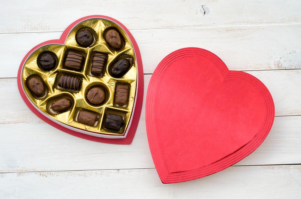 Valentine's box of chocolates