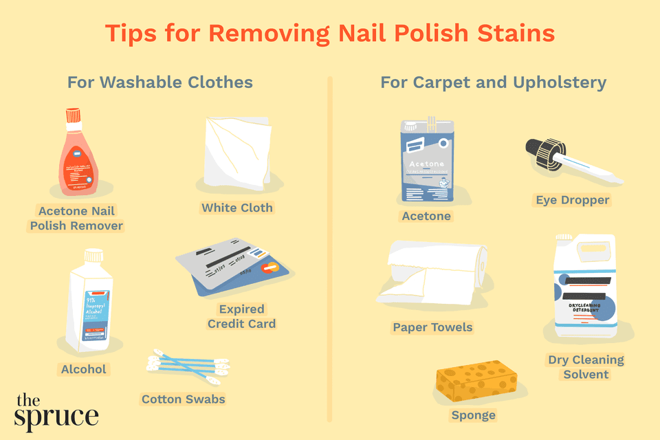 Tips for Removing Nail Polish Stains