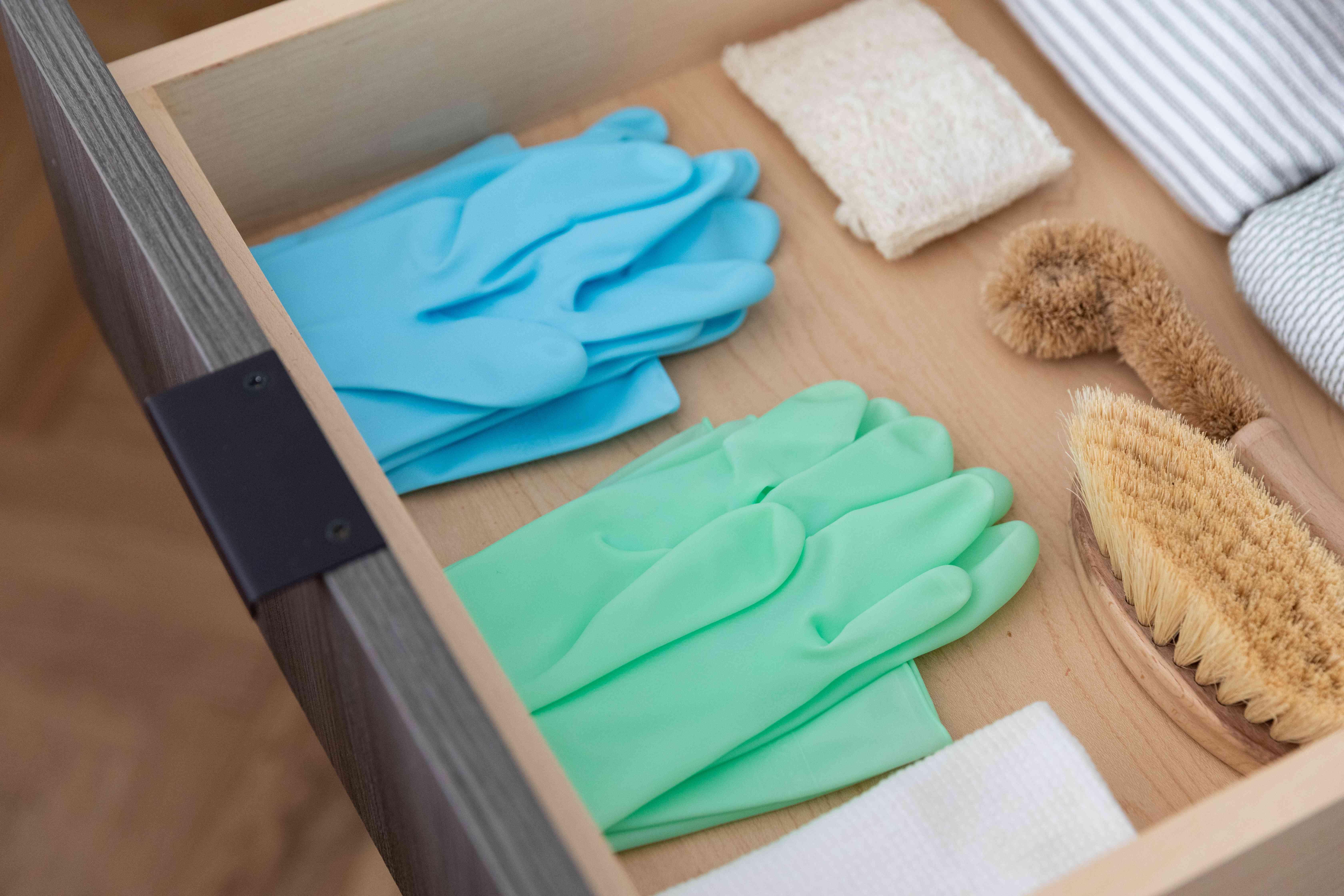Gloves in drawer