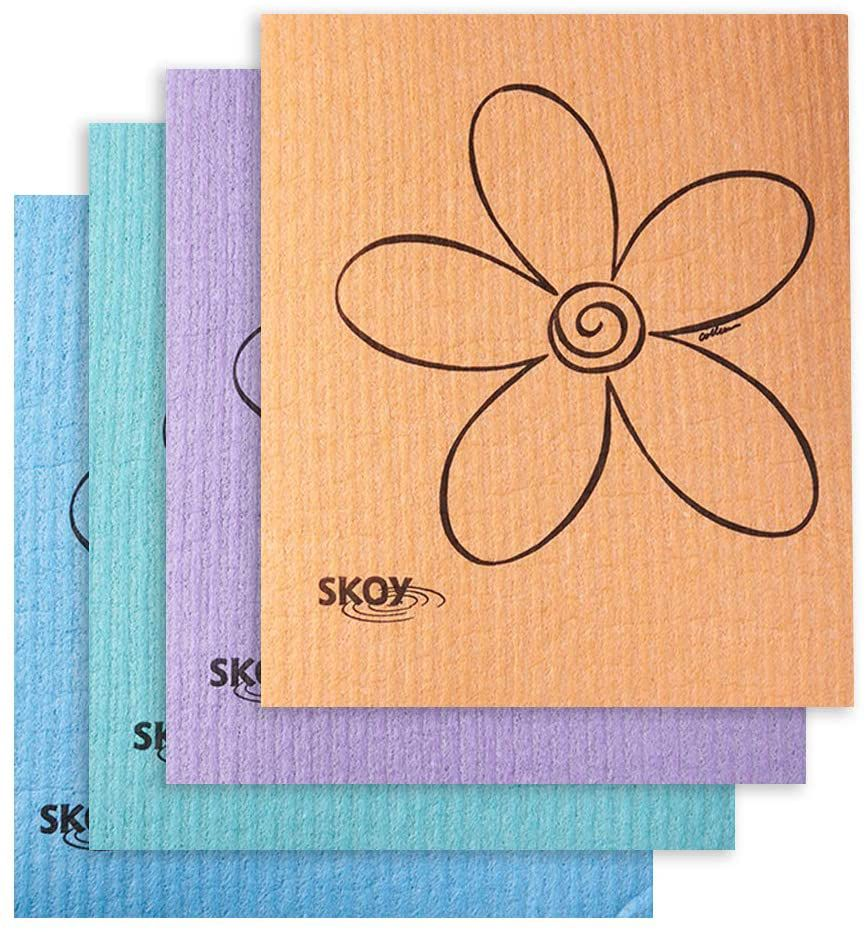 Skoy Eco-Friendly Swedish Dishcloth, Four Pack
