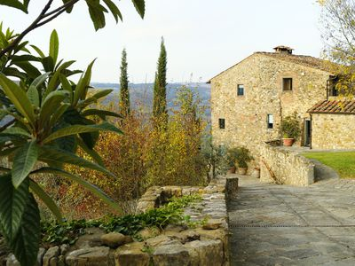 A traditional Tuscan-style home.