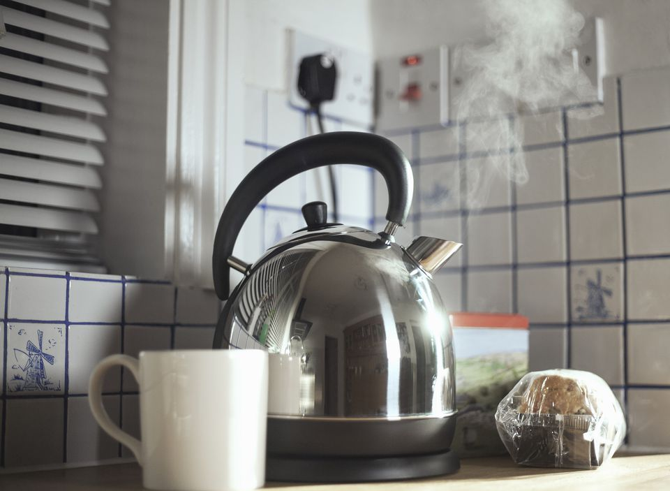 Steaming electric kettle