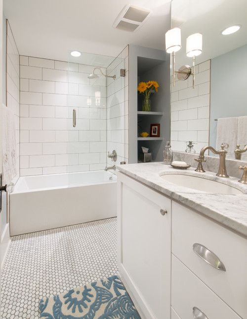 Well-known 16 Beautiful Bathrooms With Subway Tile FG54