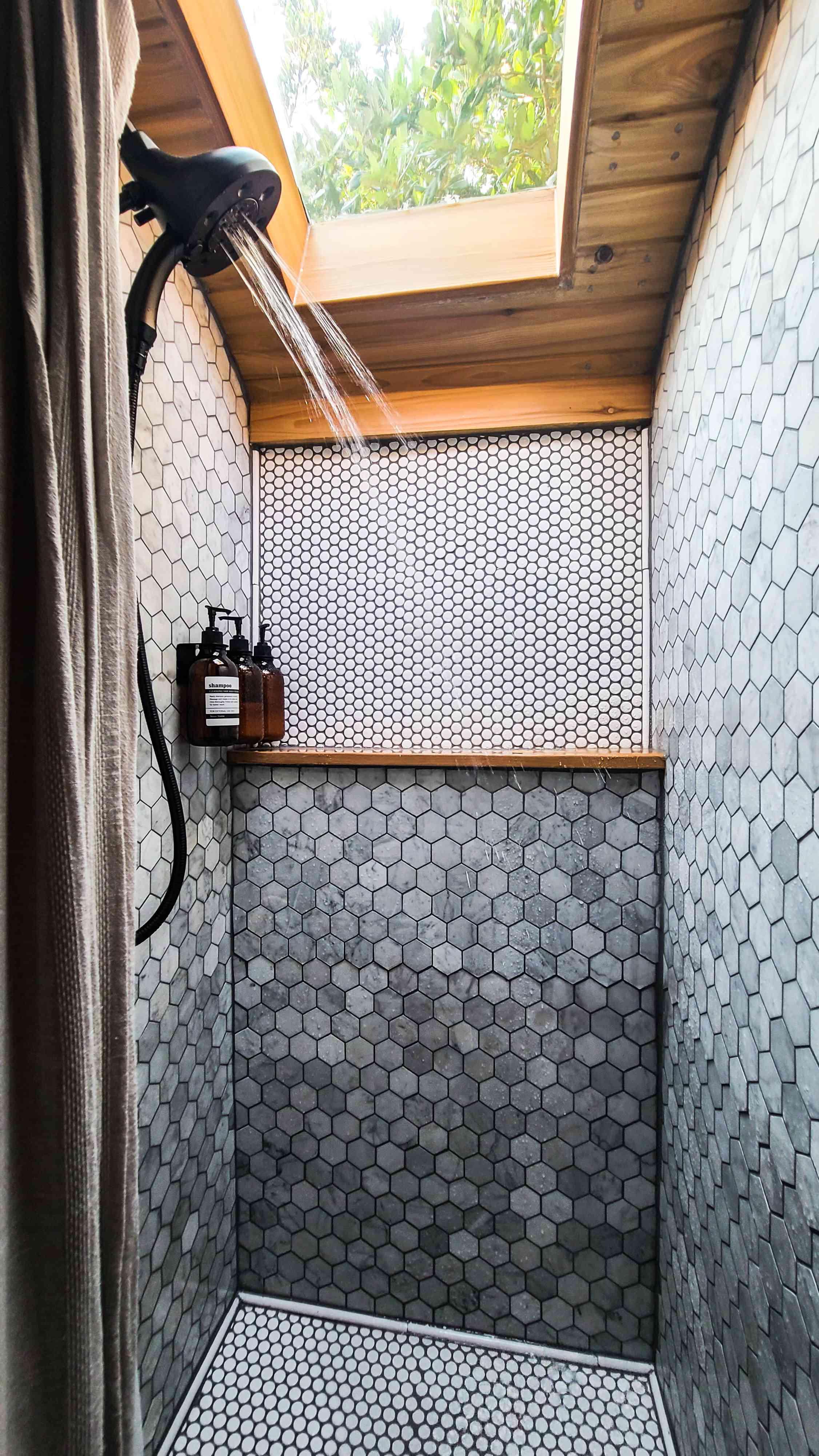tiny house bathroom skylight