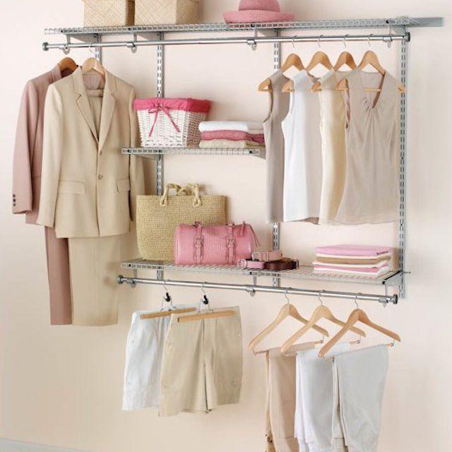 Rubbermaid Configurations Closet Kits, 3-6 ft., Titanium
