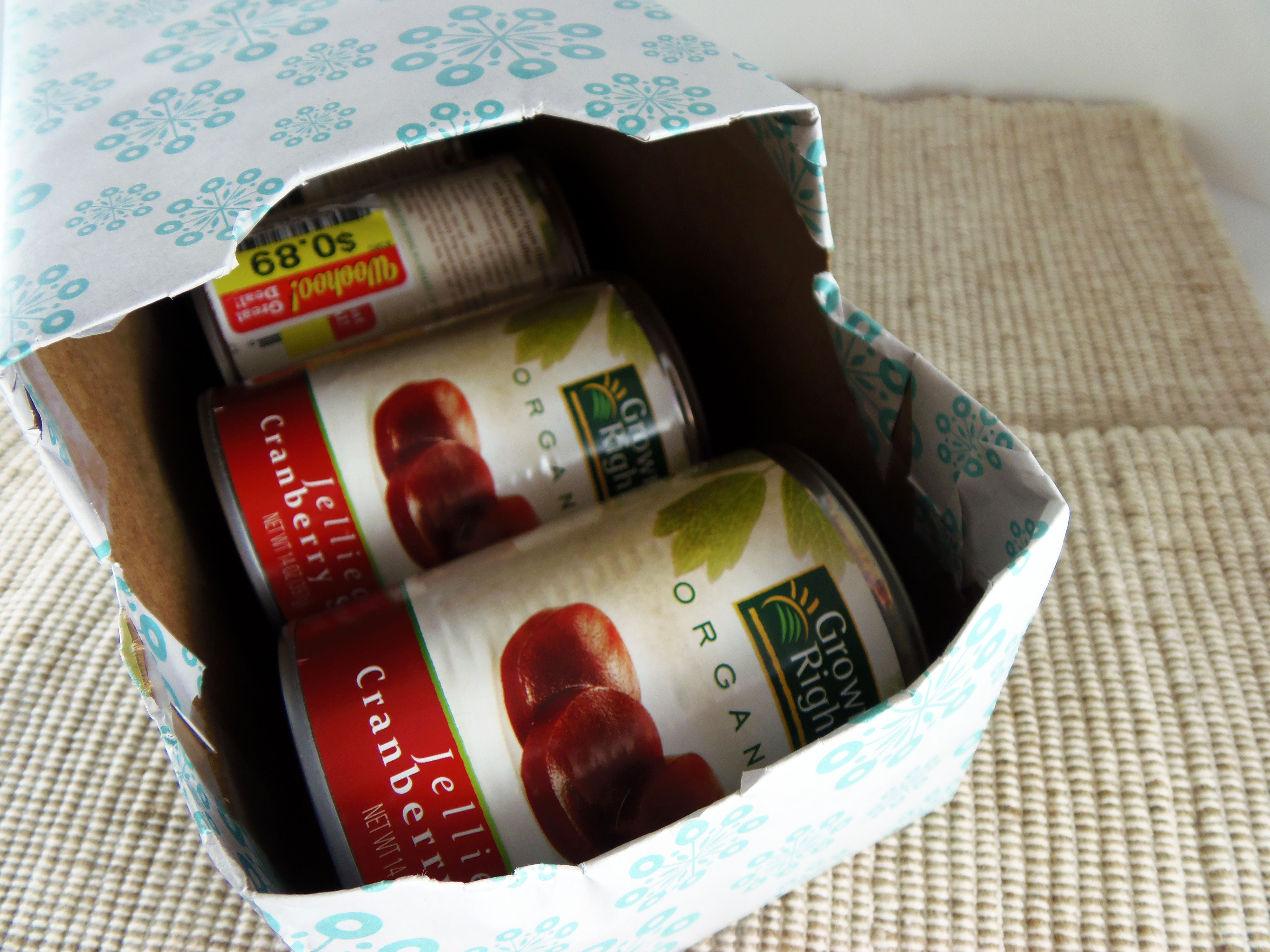 Canned goods in soda can box