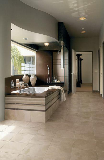 diseño de baño principal contemporáneo