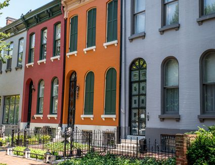 townhomes painted different colors