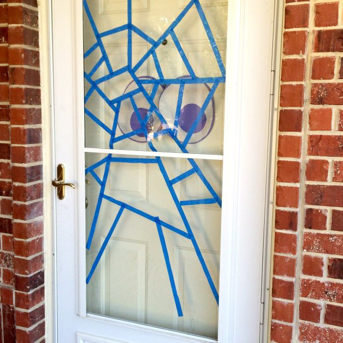 Halloween Spider Web Door