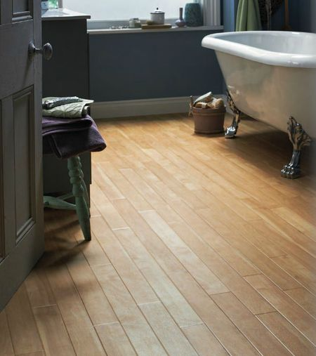 Small Bathroom Flooring Ideas Luxury Vinyl Canadian Maple Plank