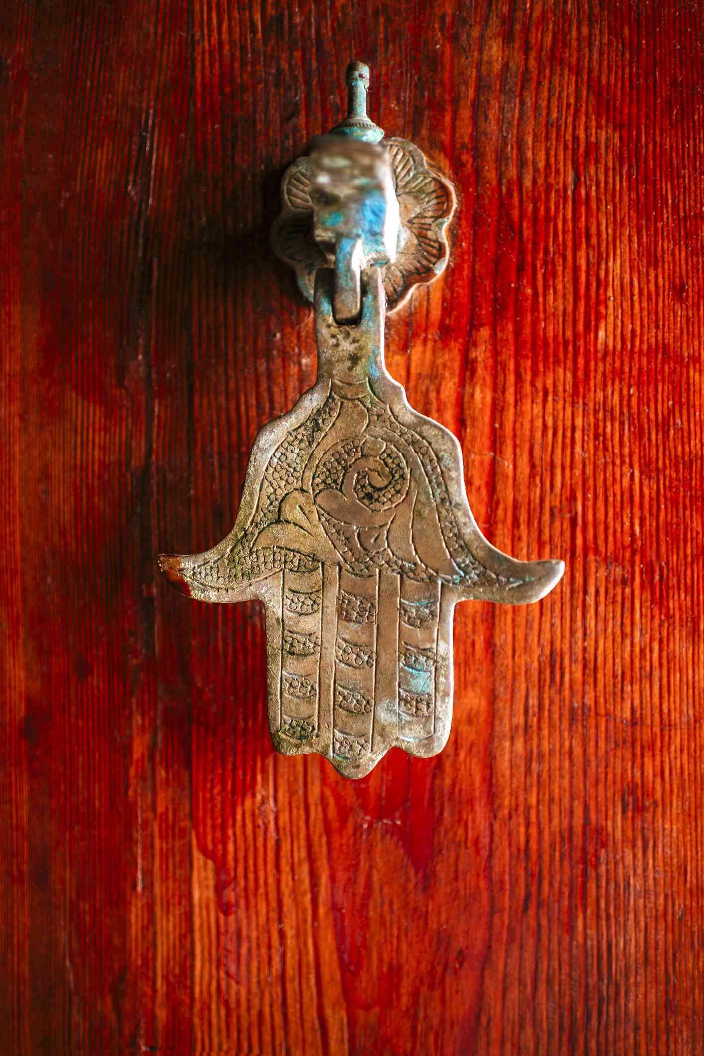 hand of Fatima on a door knocker