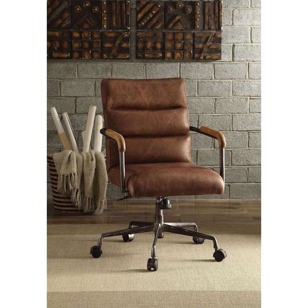 17 Stories Eastcotts Genuine Leather Task Chair