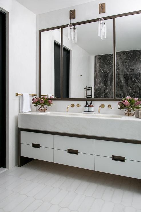 bathroom large mirror