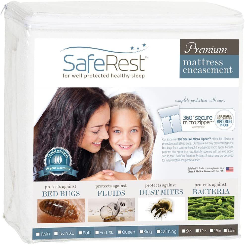 SafeRest Premium Zippered Mattress Encasement
