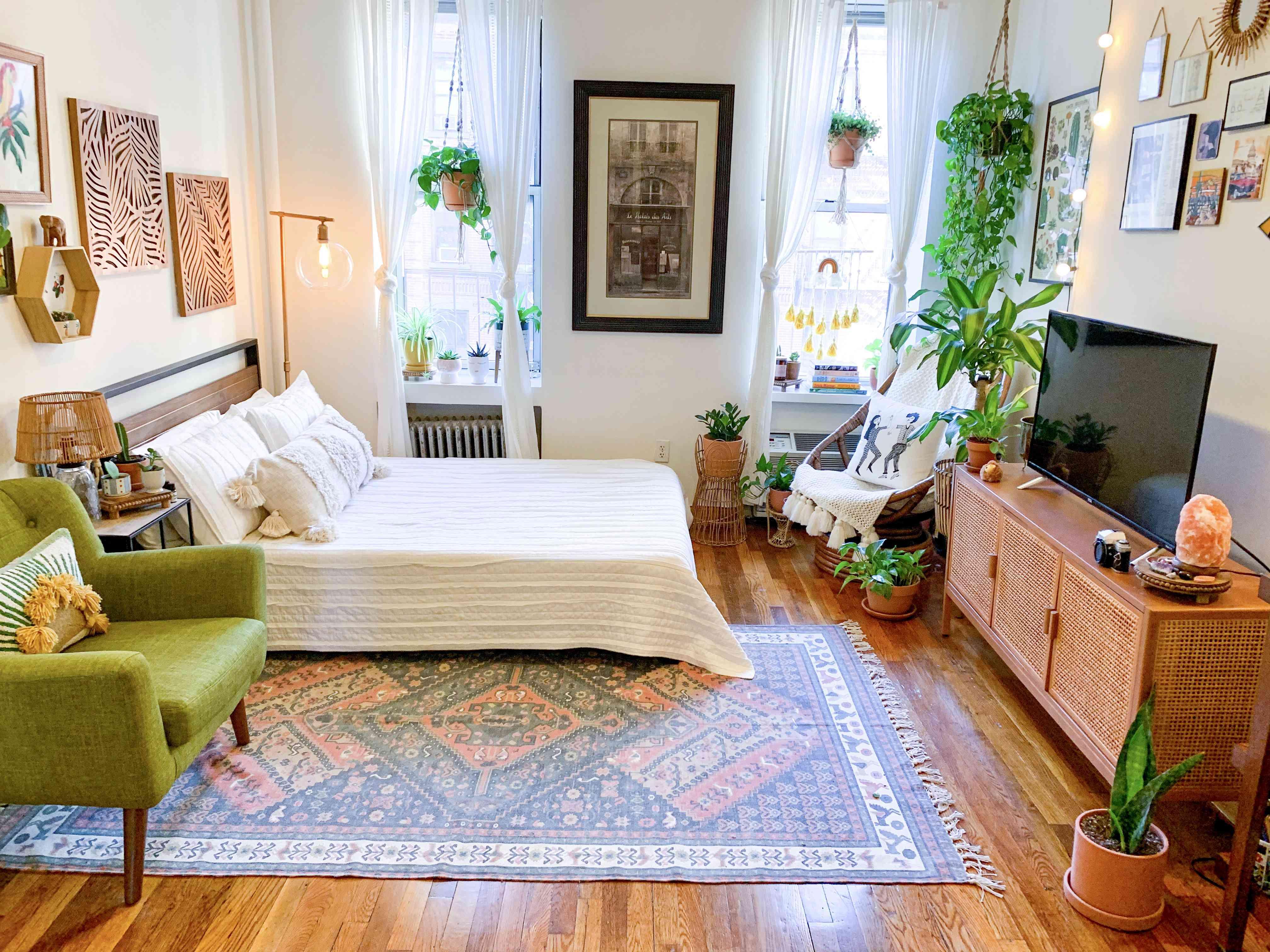 KC Cibran's boho and cuban abuela inspired nyc studio apartment