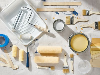 various painting supplies
