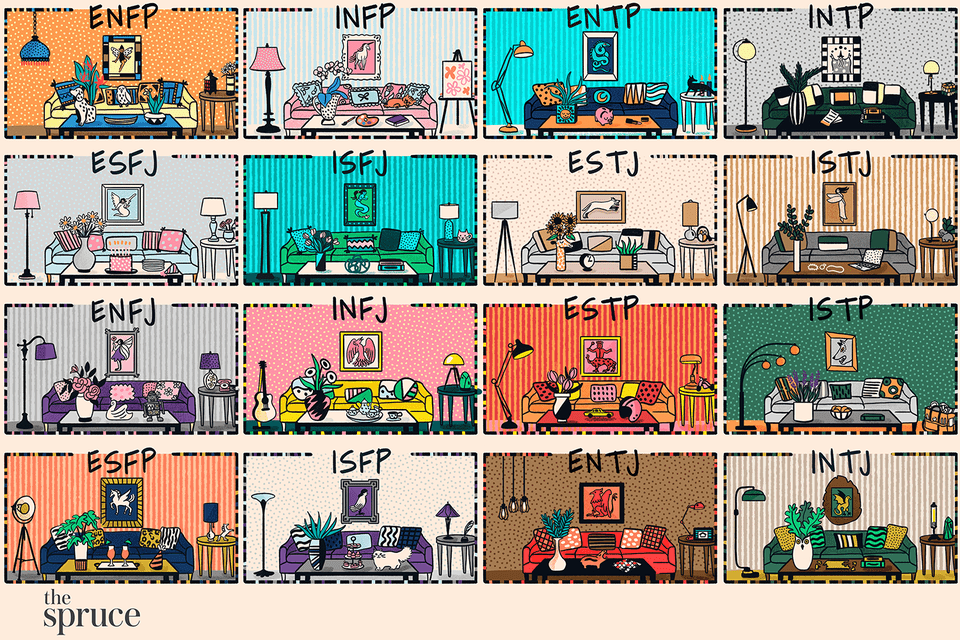 This is The Best Home Color Palette for Each MBTI Personality Type illustration