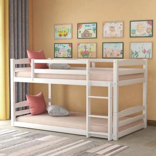 Harper and Bright Designs High Quality Twin Over Twin Bunk Bed