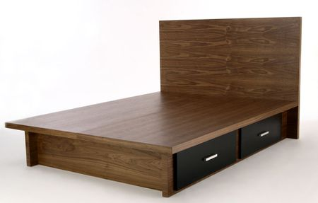 Wood Platform Beds With Storage Drawers