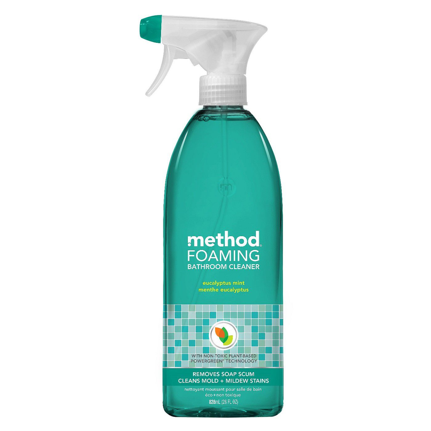 Best For Soft Water Method Foaming Bathroom Cleaner Eucalyptus Mint