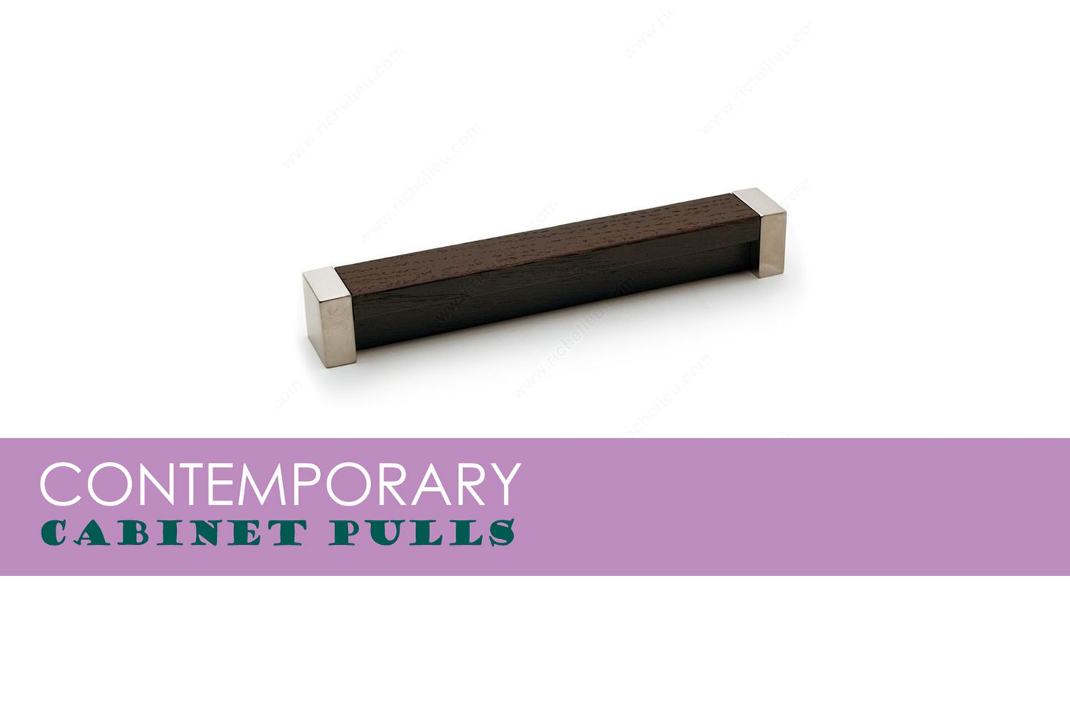 Contemporary Metal and Wood Pull