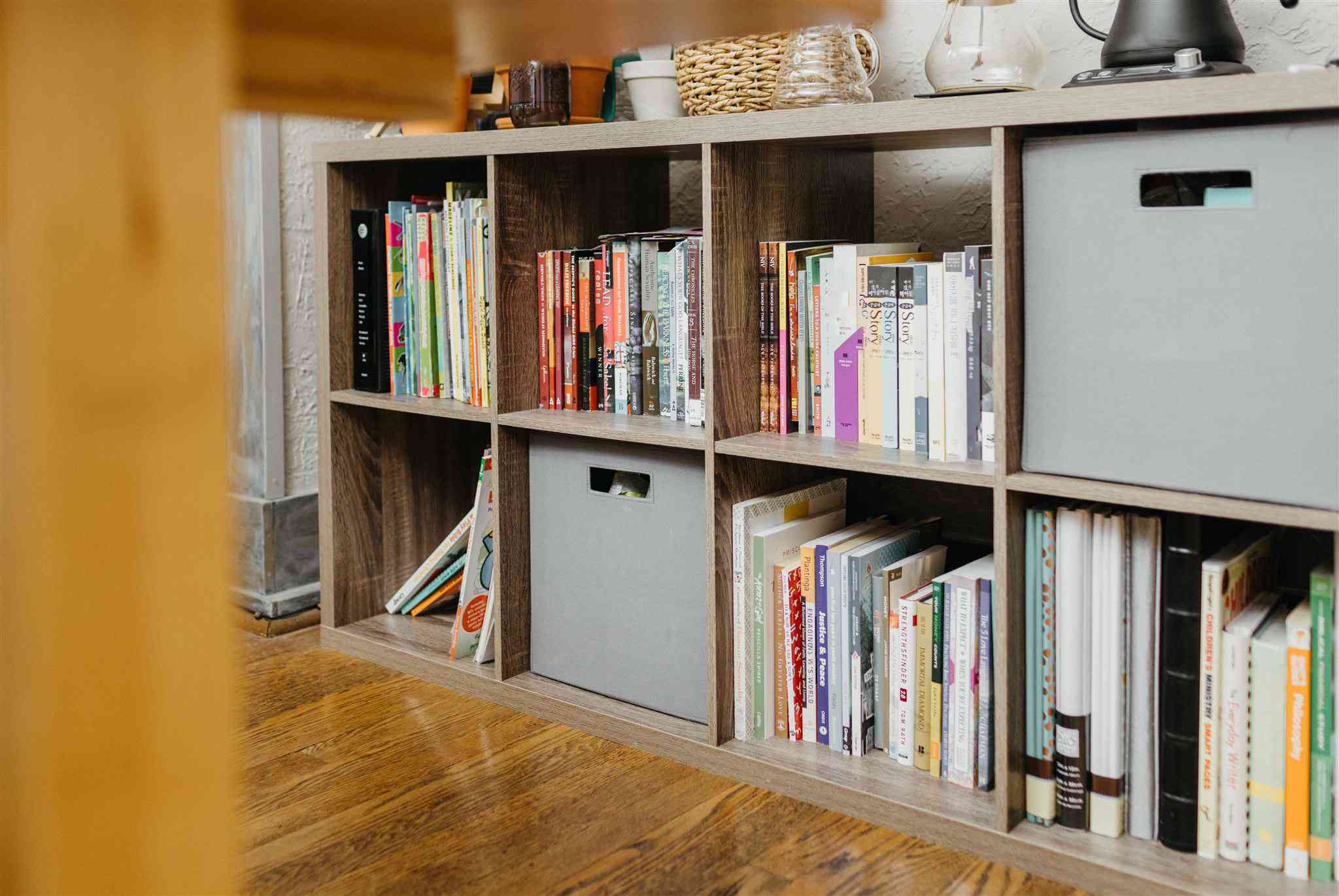 adding a bookcase for sound-proofing