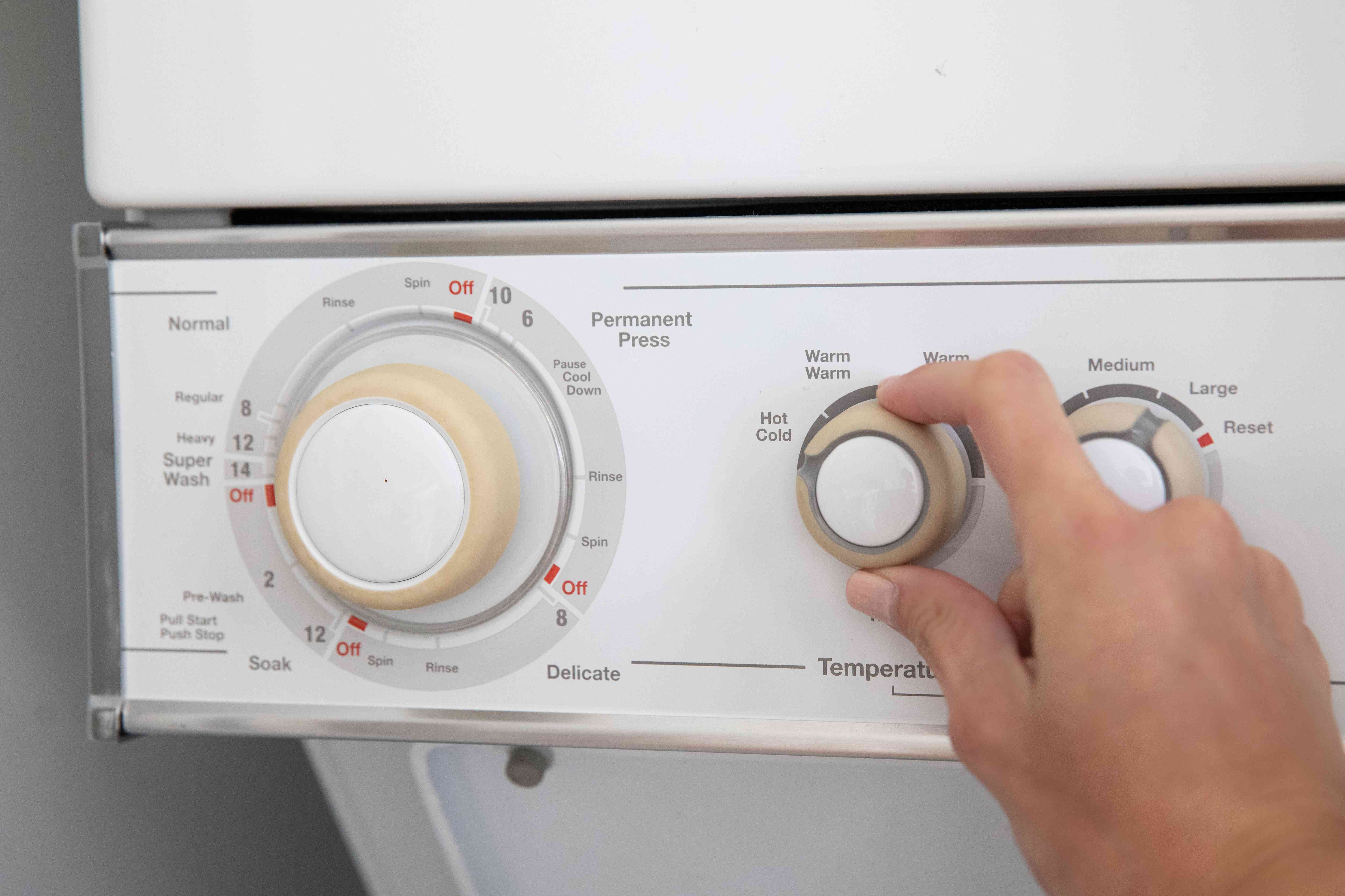 Washing machine set to hottest temperature for bug infested clothes
