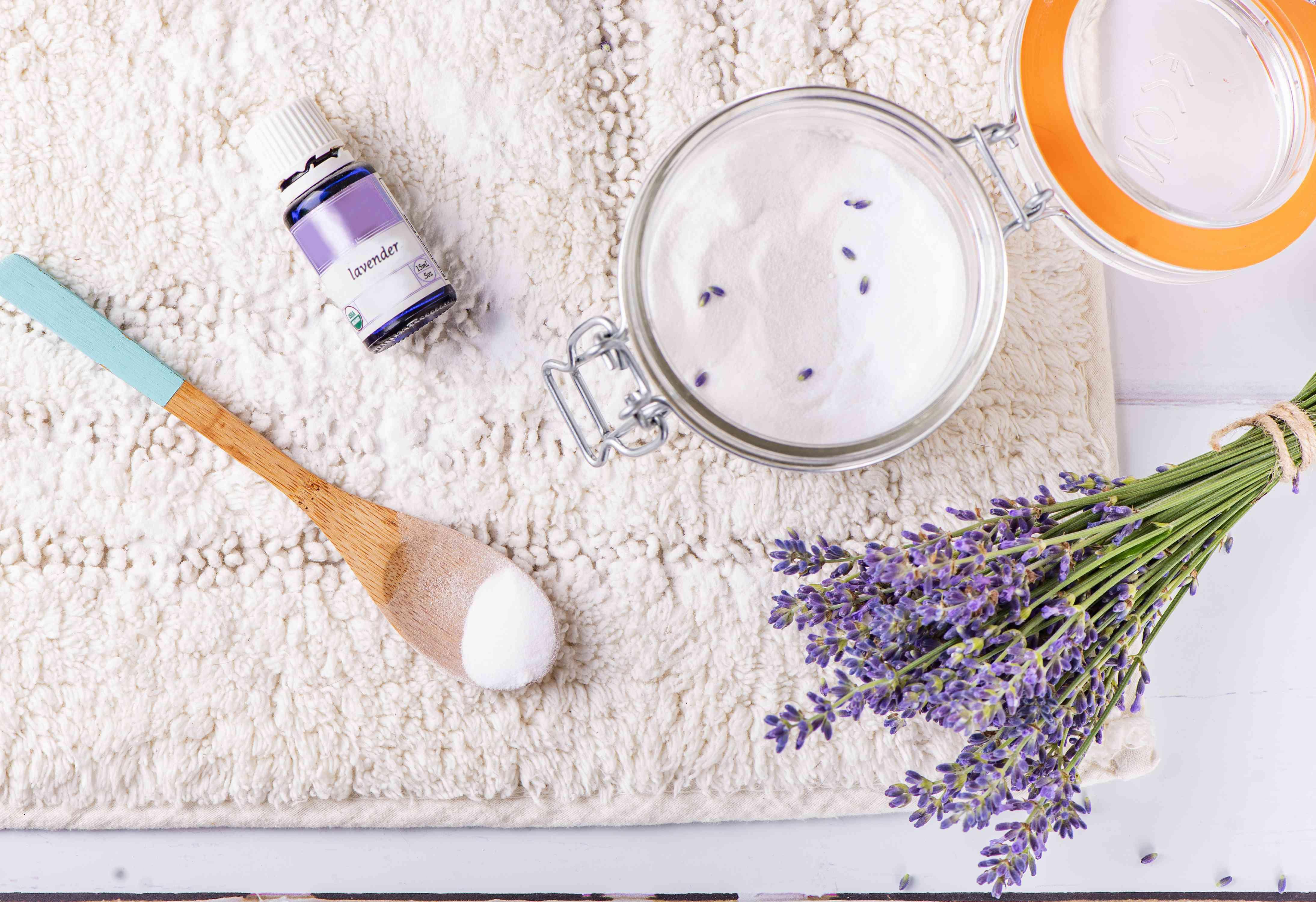 ingredients for lavender rug freshener