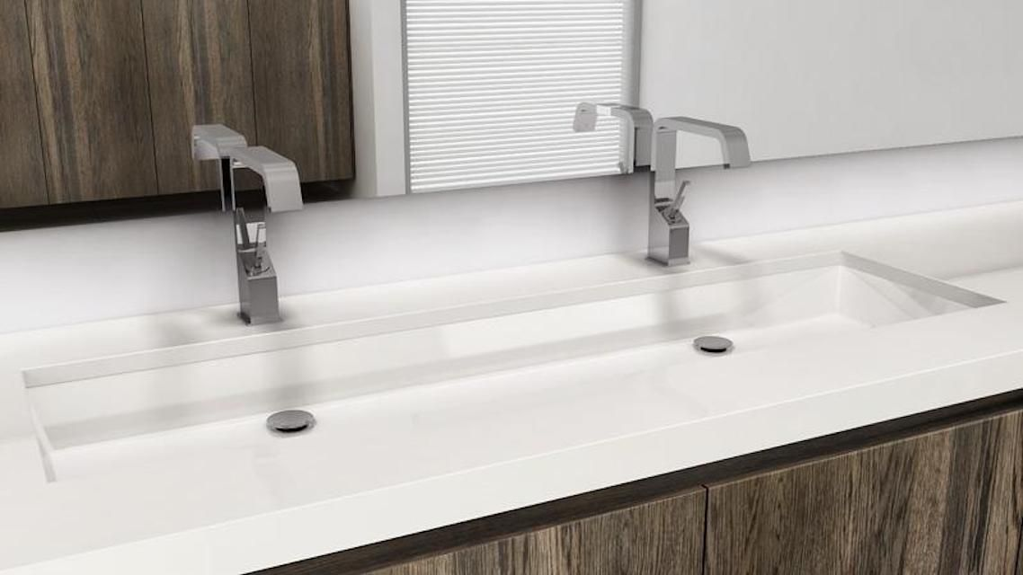 Narrow Undermount Bathroom Sink