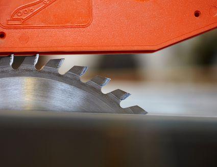 Close up detail of circular saw