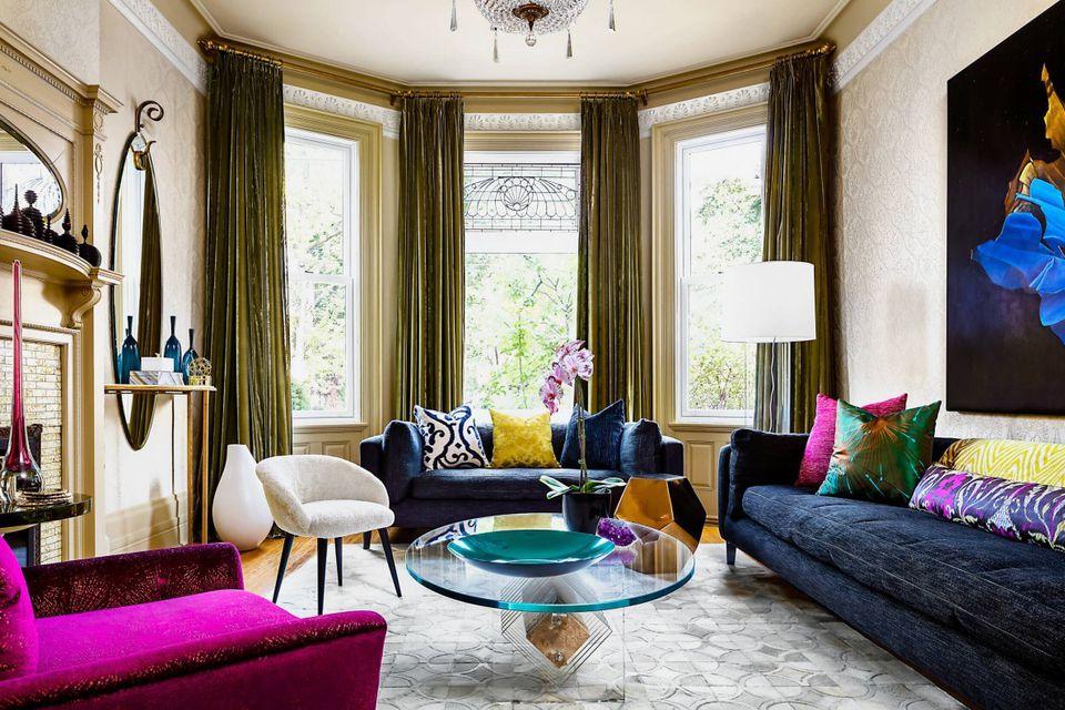 color living room apartment interior design: apartment painting | 35 Colorful Interior Design Ideas